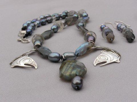 Rain - Spawn - Salmon Necklace