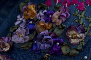 Ribbon-Pansies-on-my-new-jacket!-by-Melonie-Anchetta-1200